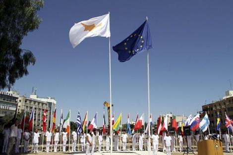Acto de ceremonia de arranque de la presidencia, en Nicosia.| Efe