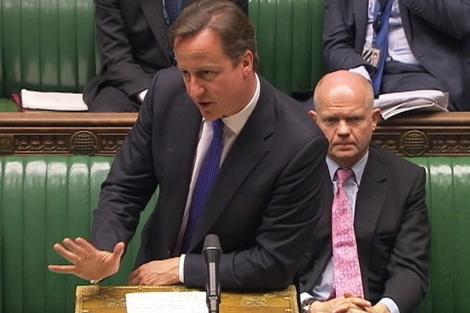 David Cameron se dirige al Parlamento británico. | Reuters TV