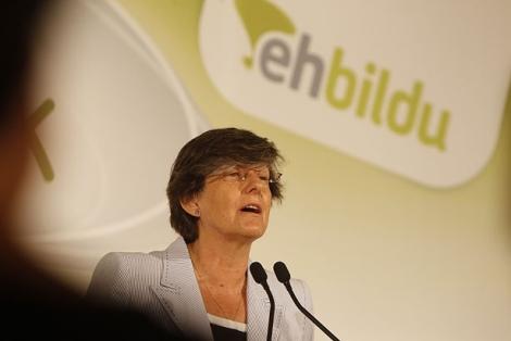 La candidata a lehendakari de EH Bildu, durante su presentación.   Iñaki Andrés