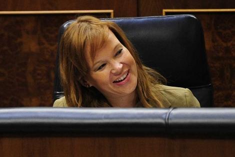 Leire Pajín, en el Congreso cuando era ministra de Sanidad. | B. Díaz.