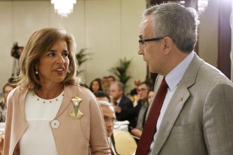 Ana Botella junto a Alejandro Blanco, presidente del COE.   EFE