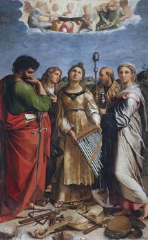 Cuadro de altar de Santa Cecilia.