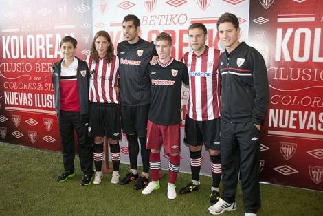 El Athletic presenta sus nuevas equipaciones para la próxima ... c7216bf8085f5