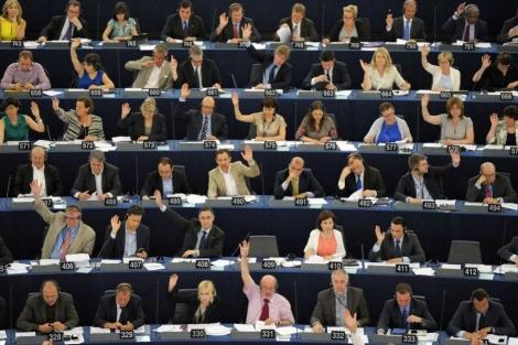 El pleno del Parlamento de Estrasburgo durante una votación. | AFP