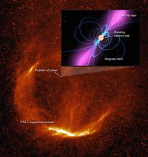 El remanente de supernova CTA1 y su púlsar | NASA/S. Pineault, DRAO