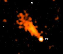El pulsar J11014 y el interior de su cola cometaria | NASA/CXC/UC Berkeley/J.Tomsick et al & ApJ Lett.