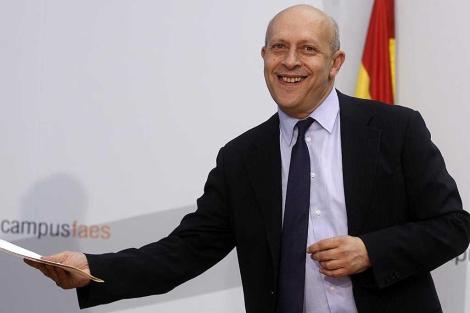 El ministro de Educación, José Ignacio Wert.   Javier Barbancho