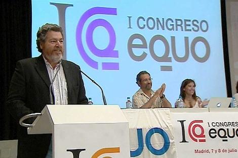 Juan López de Uralde, en el I Congreso de Equo. | Efe