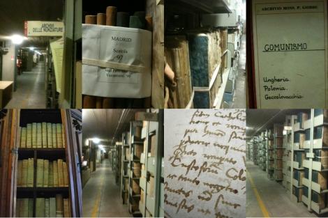 Combo de imágenes del Archivo Secreto Vaticano.