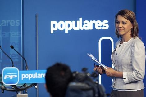María Dolores de Cospedal, durante su intervención. | Tarek