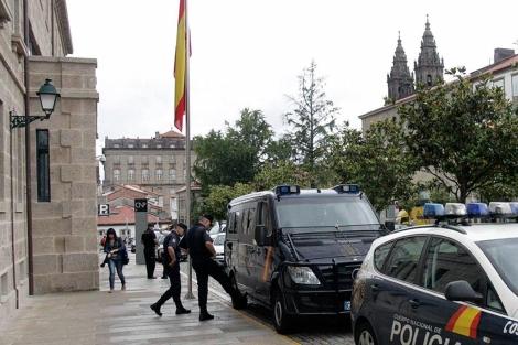 Comisaría de Santiago de Compostela donde permaneció detenido. | Efe