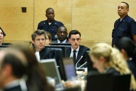 El congoleño Thomas Lubanga, en el Tribunal Penal Internacional de La Haya este martes. | Afp