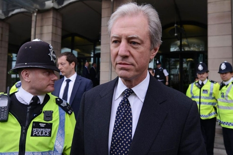 El presidente de Barclays, implicada en el caso, tras comparecer en Londres. | Reuters