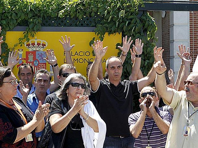Protesta de funcionarios de La Moncloa. | Angel Díaz / Efe