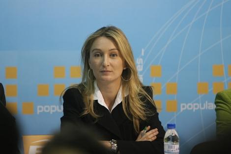 La diputada Andrea Fabra en un acto en Castellón. | Eugenio Torres