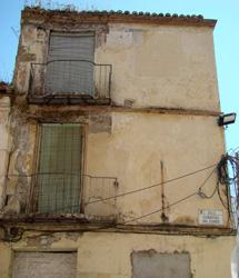 Edificio derribado.   Pinturas Murales de Málaga