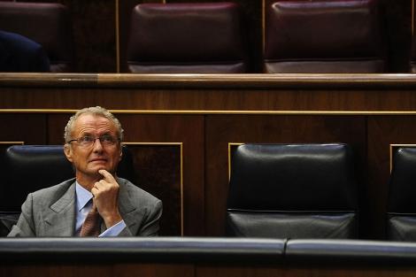 Pedro Morenés, ministro de Defensa, durante la sesión de control. | Bernardo Díaz