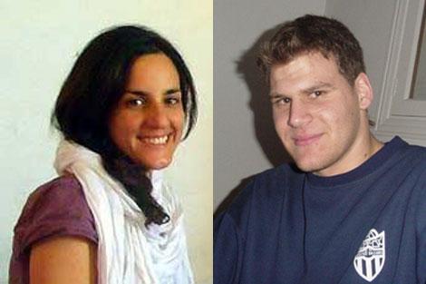 Los cooperantes Ainhoa Fernández y Enric Gonyalons, liberados hoy.