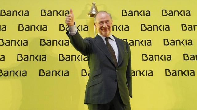 Rodrigo Rato en el debut de Bankia. | Sergio González