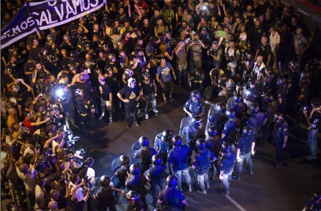 Manifestación de los sindicatos convocada este jueves. | Alberto di Lolli