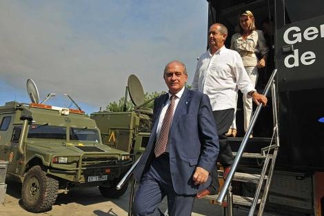 El ministro de Interior, Jorge Fernández Díaz, a su llegada a Figueres, Gerona. | Efe