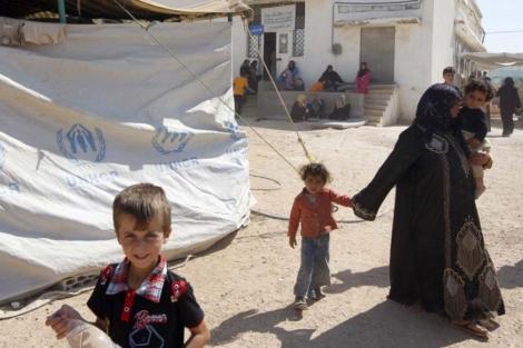 Refugiados sirios en el campamento de Bashabsheh, Jordania.   Jamal Nasrallah.   Efe.