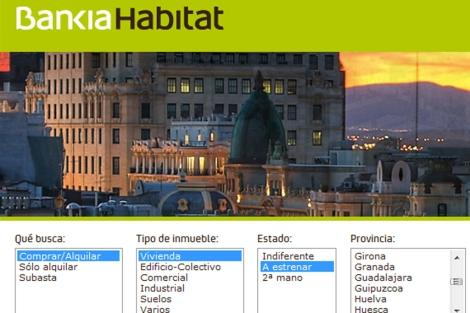 Portal inmobiliario de Bankia Hábitat.