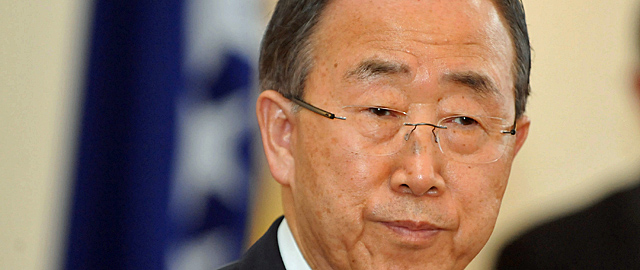 El Secretario General de la ONU, Ban ki-Moon en Sarajevo. | Reuters