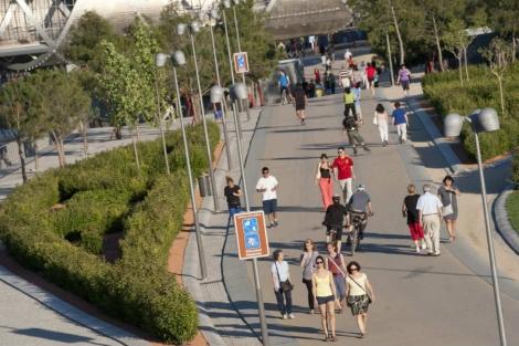 Carril bici ubicado en la zona de Madrid Río, con el que enlazará el nuevo tramo | E. M