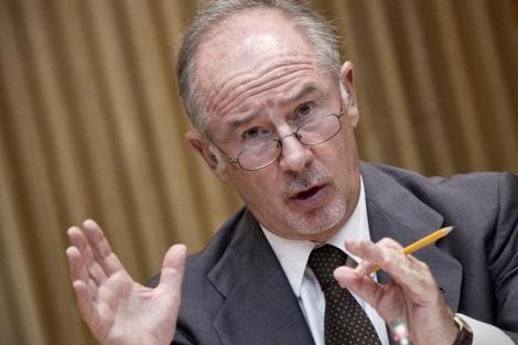 El ex presidente de Bankia, Rodrigo Rato, en el Congreso.   Alberto di Lolli