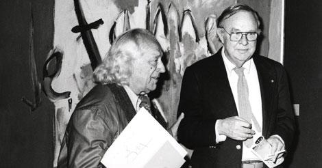 Alberti y Motherwell en la inauguración de la Fundación March en 1980