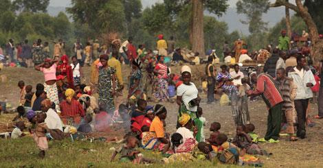 25.000 congoleños han huído de la zona de Rutshuru hacia Uganda. | James Akena / Reuters