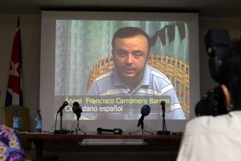 Ángel Carromero en el vídeo difundido por Cuba. | Efe