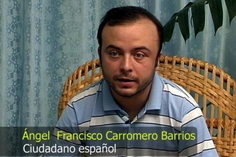 Imagen del vídeo difunfido por el Gobierno cubano en la que aparece Ángel Carromero. | Efe