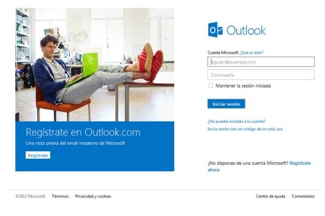 Captura de pantalla del nuevo servicio de Microsoft.