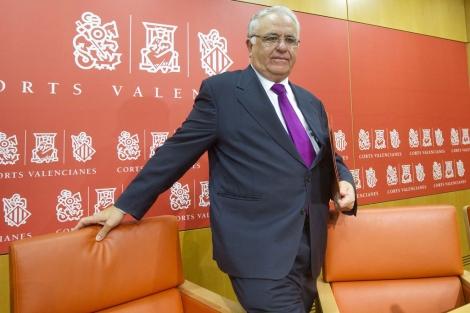 El presidente de las Cortes Valencianas, Juan Cotino.   Benito Pajares