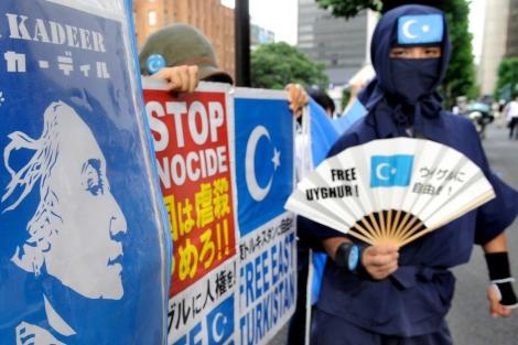 Manifestación a favor de los uigures en Xinjiang en 2009. | Afp