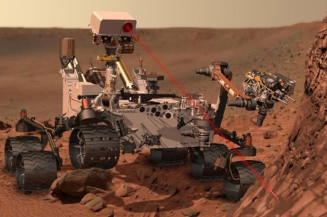 Recreación del rover 'Curiosity' sobre la superficie de Marte. | NASA