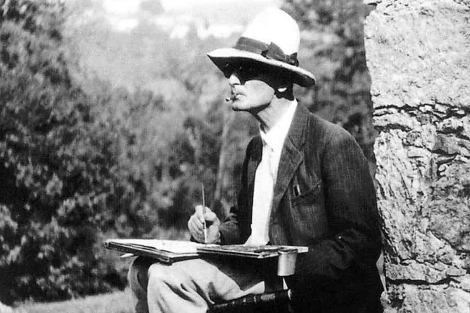 En sus últimos años, Hermann Hesse se refugió en la pintura.