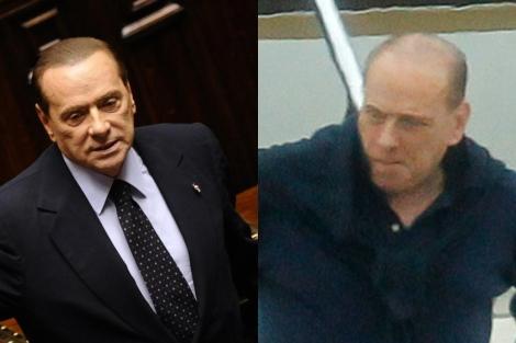 Silvio Berlusconi en noviembre de 2011 y en agosto de 2012. | Oggi
