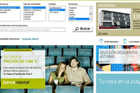 Varias campañas de venta en el portal inmobiliario de la entidad financiera.