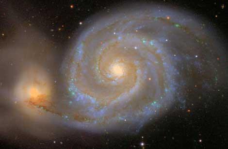 La galaxia espiral 'Messier 51'.   The Sloan Digital Sky Survey/Robert Lupton