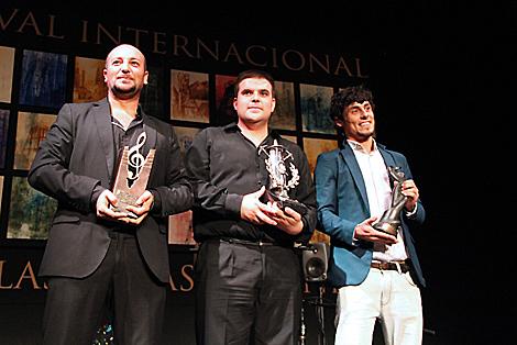 Óscar Manuel Gómez Calatayud, Ricardo Fernández del Moral y Jesús Carmona Moreno.