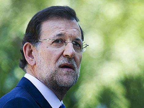 Mariano Rajoy, ayer en Palma tras despachar con el Rey. | Jaime Reina / Afp
