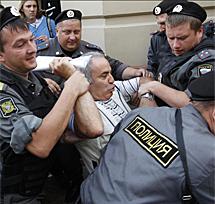Detención de Kasparov.   Foto: Reuters