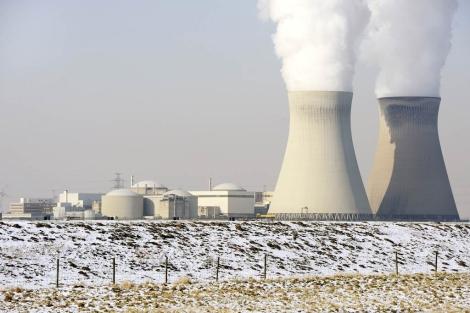 Image de la central nuclear de Doel del pasado mes de febrero.  Afp
