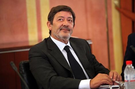 Francisco Javier Guerrero, ex delegado de Empleo de la Junta, ante la comisión. | J. Morón