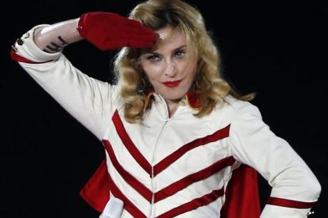 Madonna, durante su concierto del pasado martes en Niza. | Reuters