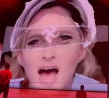 La imagen que creó la polémica en un concierto anterior.