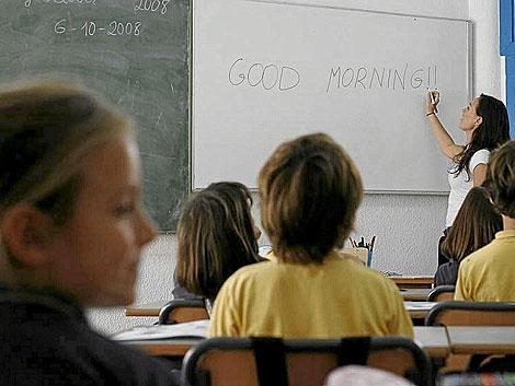 Niños y niñas en un colegio mixto en Valencia. | EL MUNDO